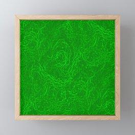 Neon Green Alien DNA Plasma Swirl Framed Mini Art Print