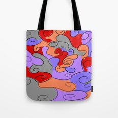 4-Colored Clouds Tote Bag