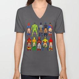 Superhero Butts Unisex V-Ausschnitt