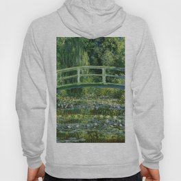 Water Lilies and Japanese Footbridge, Claude Monet Hoody