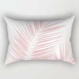 Blush Pink Palm Leaves Dream - Cali Summer Vibes #1 #tropical #decor #art #society6 Rectangular Pillow