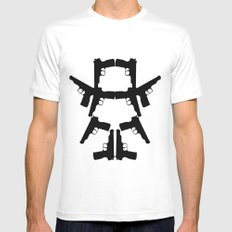 Pistol Robot MEDIUM Mens Fitted Tee White