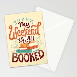 I'm booked Stationery Cards