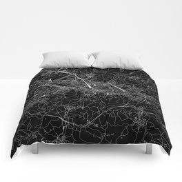 Florence Black Map Comforters