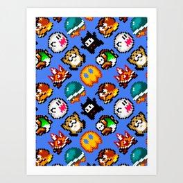 Super Mario World   Enemies Pattern Art Print