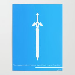 Darkness Sealing Sword - Legend of Zelda Poster