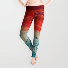 Lines in the mountains IV Leggings