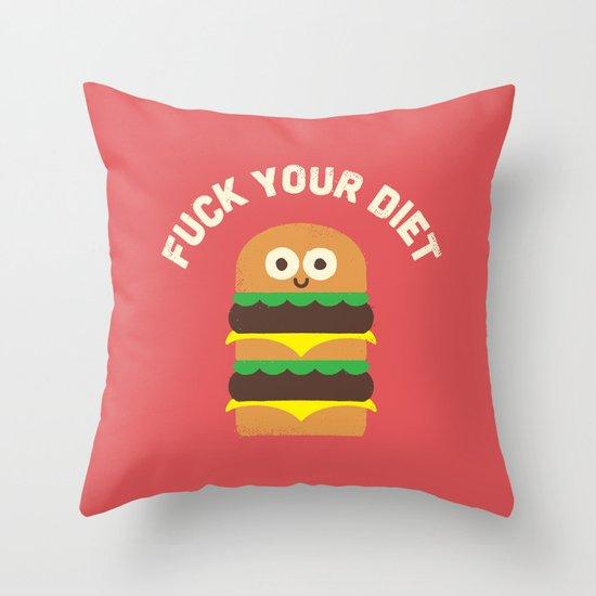 Discounting Calories Throw Pillow