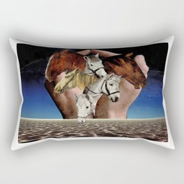 Taming Horses Rectangular Pillow