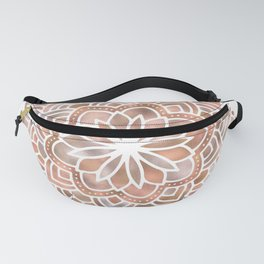 Mandala Rose Gold Flower Fanny Pack