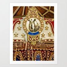 Rhinocerous Carousel at Fair Art Print