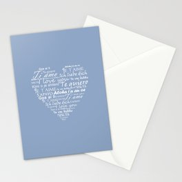Heart I love you in other languages Stationery Cards