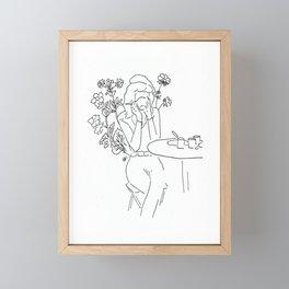café em paris Framed Mini Art Print