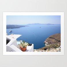 Love Santorini Art Print