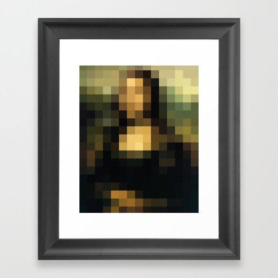 PIXELEON-Monalisa Framed Art Print