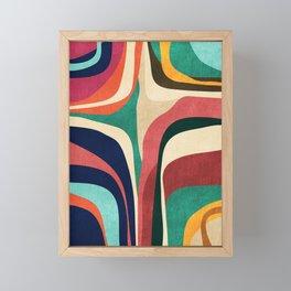 Impossible contour map Framed Mini Art Print