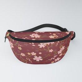 Red Sakura Batik Fanny Pack