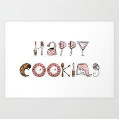 Happy Cooking Art Print
