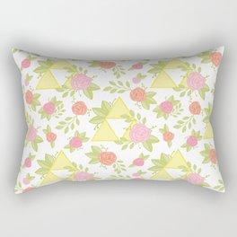 Garden of Power, Wisdom, and Courage Pattern Rectangular Pillow
