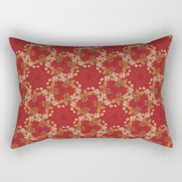 Dandelion Geometric in red holiday Rectangular Pillow