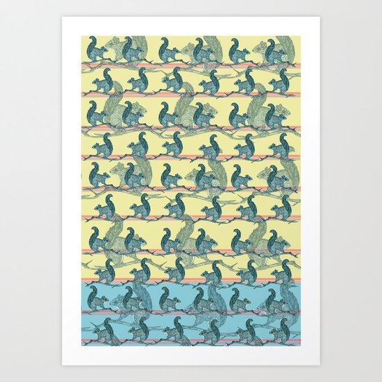 Squirrels! Art Print