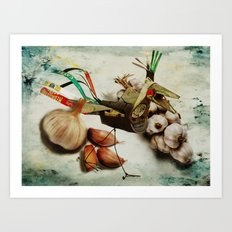 What nature delivers....those are not my eggs!!! Art Print