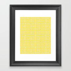 Acropolis 1 Yellow Framed Art Print