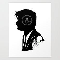10th Doctor - [Gallifreyan] Quote Silhouette Art Print