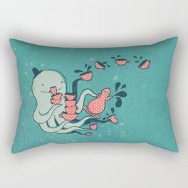 Tea & Tentacles Rectangular Pillow