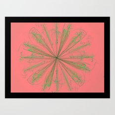 Flower Flame Art Print