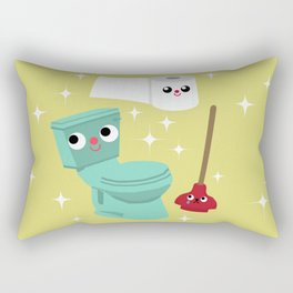 In The Bathroom Rectangular Pillow
