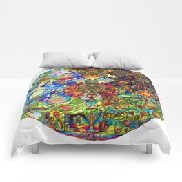 the LOVE mandala Comforters