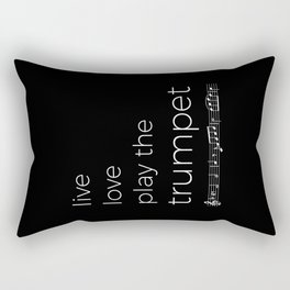 Live, love, play the trumpet (dark colors) Rectangular Pillow