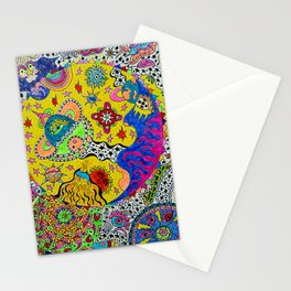 Glowing Planet Orb Stationery Cards