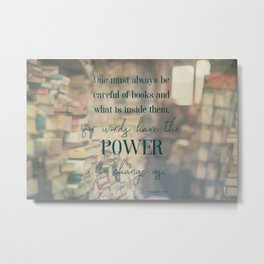 The power of books - Book Quote Collection Metal Print
