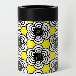 Yellow and Black Flowers Can Cooler