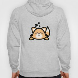 Cute Sleeping Fox Design Kawaii Style Drawing Gift Hoody