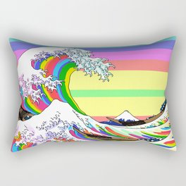 The Great Wave off Kanagawa (Colorful) Rectangular Pillow