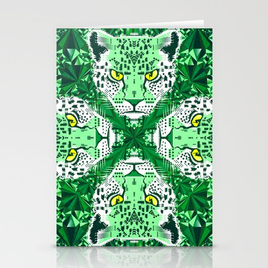 Emerald Leopard  Stationery Cards