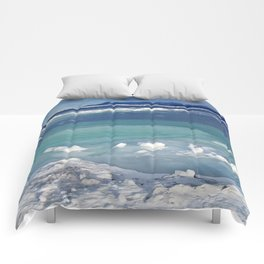 Snow and Ice pool Comforters