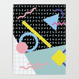 Memphis Pattern 6 - 80s - 90s - Retro Poster