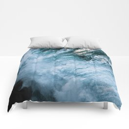 Wave in Ireland during sunset - Oceanscape Comforters