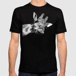 Black and white giraffe T-shirt