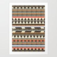 minimal Art Prints featuring DG Aztec No.1 by Dawn Gardner