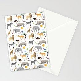 Safari Savanna Multiple Animals Stationery Cards