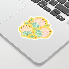 Blush Bloom Peony Lemon Sticker