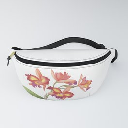 Red Orange Orchid Fanny Pack