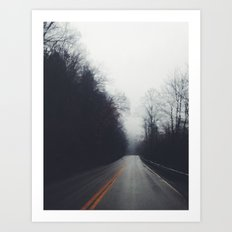 Quiet Drive Art Print