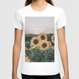 sunflowers / sunset T-shirt