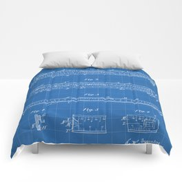 Engineering Patent - Engineers Slide Rule Art - Blueprint Comforters
